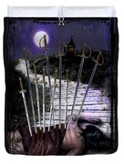 10 Of Swords Duvet Cover