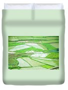 Rice Fields Scenery Duvet Cover
