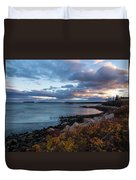 Sunset Down East Maine Duvet Cover