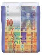 10 Swiss Franc Pop Art Bill Duvet Cover