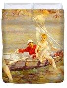 Tuke Henry Scott Ruby Gold And Malachite Henry Scott Tuke Duvet Cover