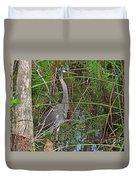 100- Great Blue Heron Duvet Cover