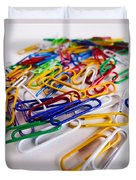 100 Paperclips Duvet Cover