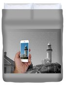 1000 Words-byron Bay Lighthouse Duvet Cover