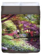 Water Lily Lake Duvet Cover