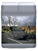 100925 Lava Flow On Road Hi Duvet Cover
