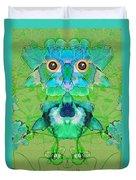 1045   Flower Owl 2017 Duvet Cover