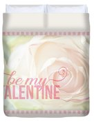 10758 To My Valentine Duvet Cover
