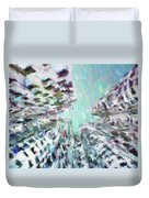 Abstract Digital Oil Painting Full Of Texture And Bright Color Duvet Cover