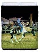 Bronco Riding Duvet Cover