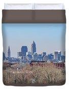 Cleveland Skyline Duvet Cover