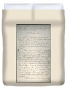 Emancipation Proclamation Duvet Cover