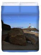 Montauk Point Lighthouse Montauk New York Duvet Cover