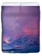 Nebraska Hp Supercell Sunset Duvet Cover