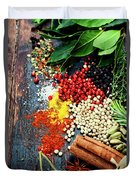 Spices And Herbs Duvet Cover