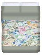 Travel Money - World Economy Duvet Cover