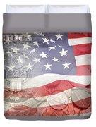 Usa Finance Duvet Cover