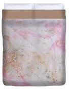 11. V2 Pink And Cream Texture Glaze Painting Duvet Cover