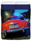 Vintage Car In Colonia Del Sacramento, Uruguay Duvet Cover