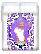 1103  Yoga Lady Fractal 2017 Duvet Cover