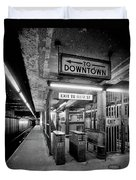 110th Street And Lenox Avenue Station - New York City Duvet Cover
