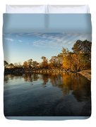 Autumn Beach - The Splendor Of Fall On The Shores Of Lake Ontario Duvet Cover