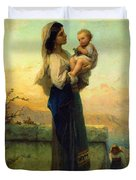 Mary And Child Duvet Cover