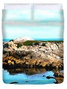 West Coast Seascape 2 Duvet Cover