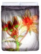 11305 Flower Abstract Series 03 #5 Duvet Cover