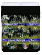 11362 Child Of The Universe With Lyrics By Barclay James Harvest Duvet Cover