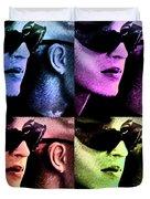 11438 Mannequin Series 11-14 Can You Keep A Secret Pop Art 2 Duvet Cover