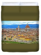 1167 Florence Italy Panorama Duvet Cover