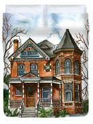 Victorian Winter Duvet Cover