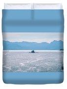 Beautiful Landscape In Alaska Mountains  Duvet Cover