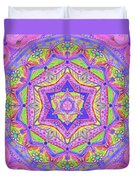 Birth Mandala- Blessing Symbols Duvet Cover