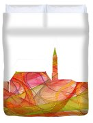 Cheyenne Wyoming Skyline Duvet Cover