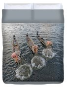 Fisherman Inle Lake - Myanmar Duvet Cover