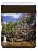Hocking Hills Waterfall Duvet Cover