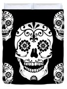 Simple Sugar Skulls Duvet Cover
