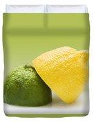12 Organic Lemon And 12 Lime Duvet Cover