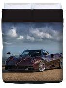 #pagani #huayra #roadster #print Duvet Cover
