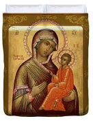 Virgin And Child Religious Art Duvet Cover