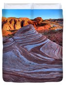 Fire Wave Panorama Duvet Cover