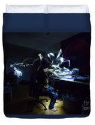Light Painting Photography Duvet Cover