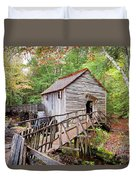 1267 Great Smoky Mountain Cable Mill Duvet Cover