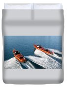 Classic Wooden Runabouts Duvet Cover