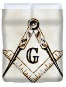 Ancient Freemasonic Symbolism By Pierre Blanchard Duvet Cover