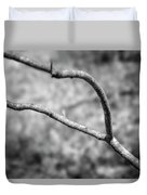 Bare Tree Branches In Early Spring Duvet Cover