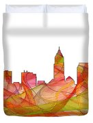 Cleveland Ohio Skyline Duvet Cover