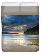 Cloudy Sunrise Seascape Duvet Cover